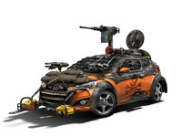 Hyundai Veloster Zombie Survival Machine